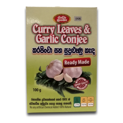 Curry Leaves & Garlic Conjee