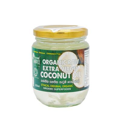 Organic Raw Extra Virgin Coconut Oil 225ml