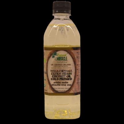 Organic Whole Kernel Coconut Oil - 500ml
