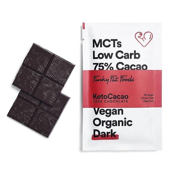 Funky Fat Foods KetoCacao Bar black 50 gram