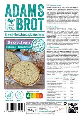 Adam's Brot Broodjes (bakmix voor 4 broodjes)