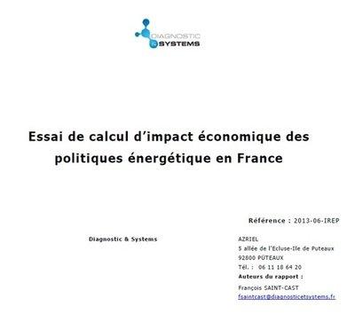 Essai de calcul d'impact économique des politiques énergétiques en France