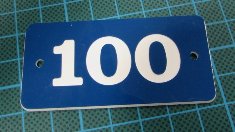 3mm engraved laminate 100 x 50mm labels ( From €5.52 each)