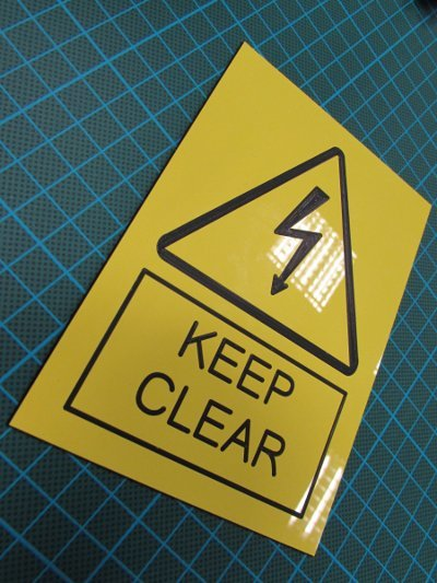 3mm engraved laminate 200 x 100mm labels ( From €9.55 each)