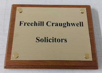 200 x 150mm Brass Nameplate
