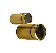 Flat Head brass finish standoff fitting (Pack of 4)