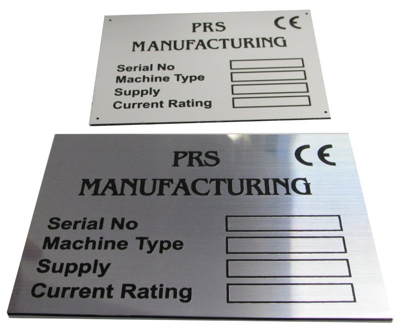 1.5mm engraved laminate 150 x 100mm labels ( From €5.52 each)