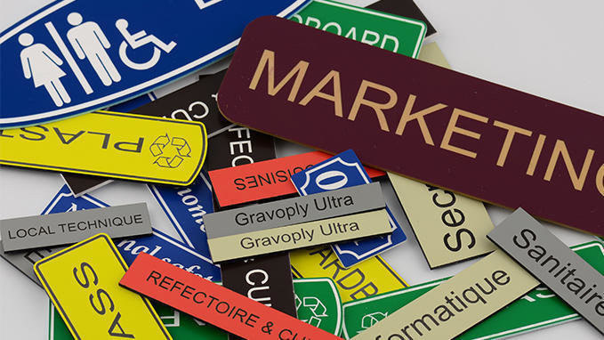 1.5mm engraved laminate 150 x 50mm labels ( From €4.60 each)