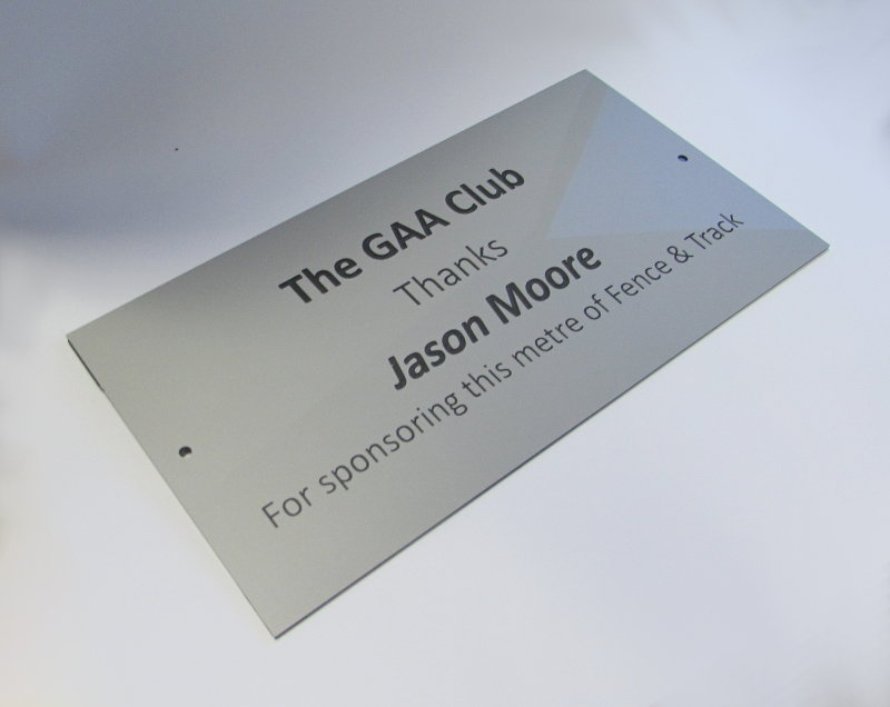 3mm engraved laminated 150 x 25mm labels ( From €4.58 each)