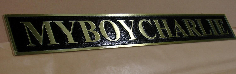 450 x 350mm Heritage Zinc Cast Nameplate