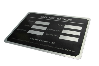 50 of 100 x 150mm Metal Labels