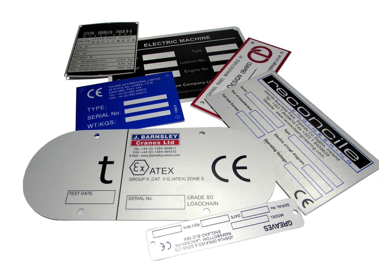 50 of 75 x 100mm Metal Labels