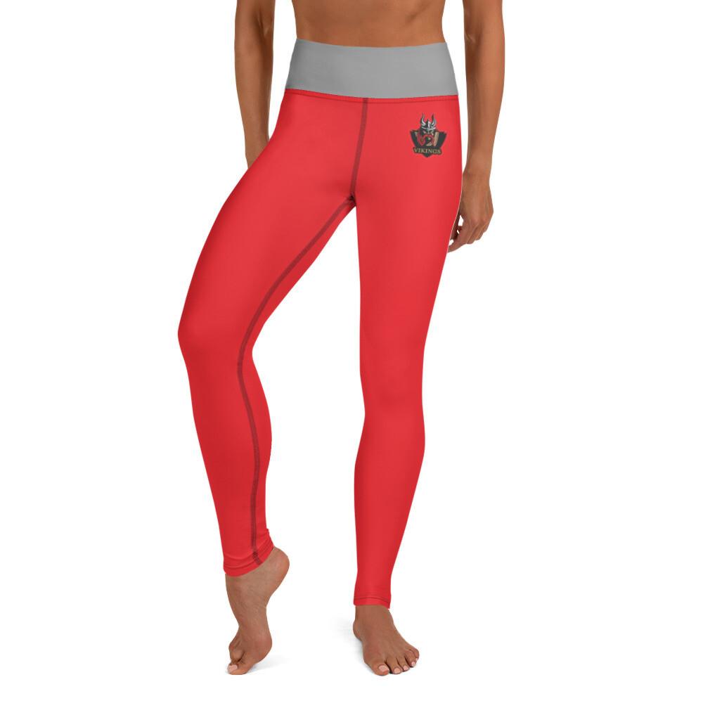 AHS Yoga Leggings - Red/Grey