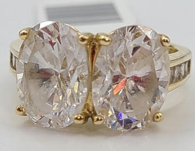 14K Yellow Gold 6g Size:7 - CZ Stones