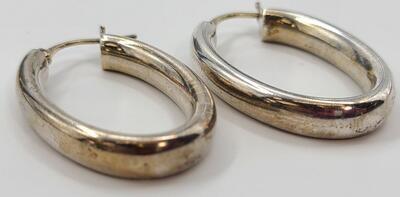Silver Earrings 925 Silver 5.8g