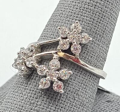 Lady's Silver & Stone Ring 925 Silver 3.1g Size:7.5