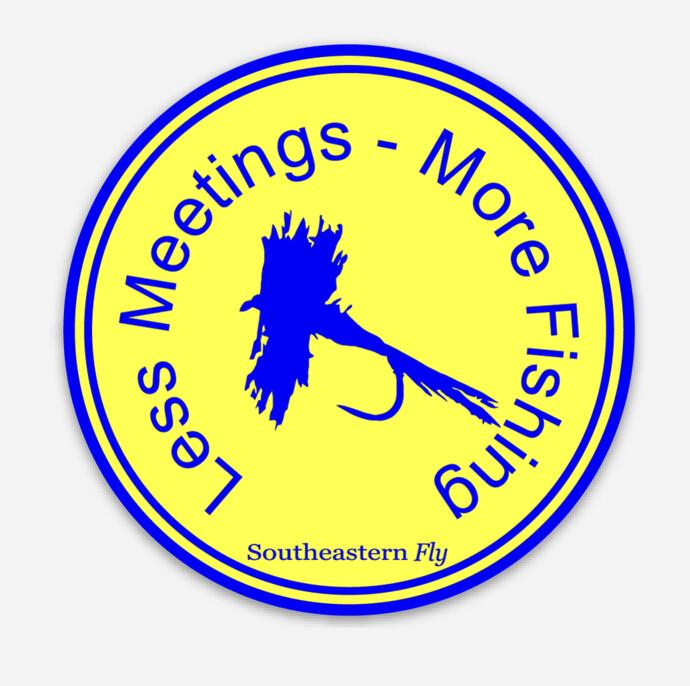 Less Meetings - Decal