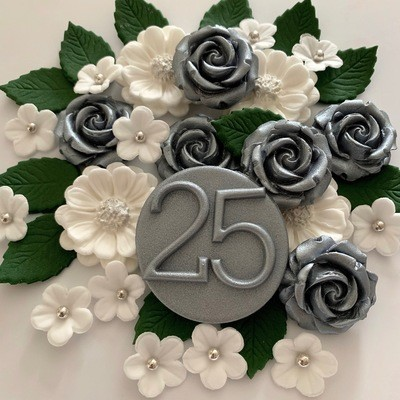 Silver 25 Wedding Bouquet