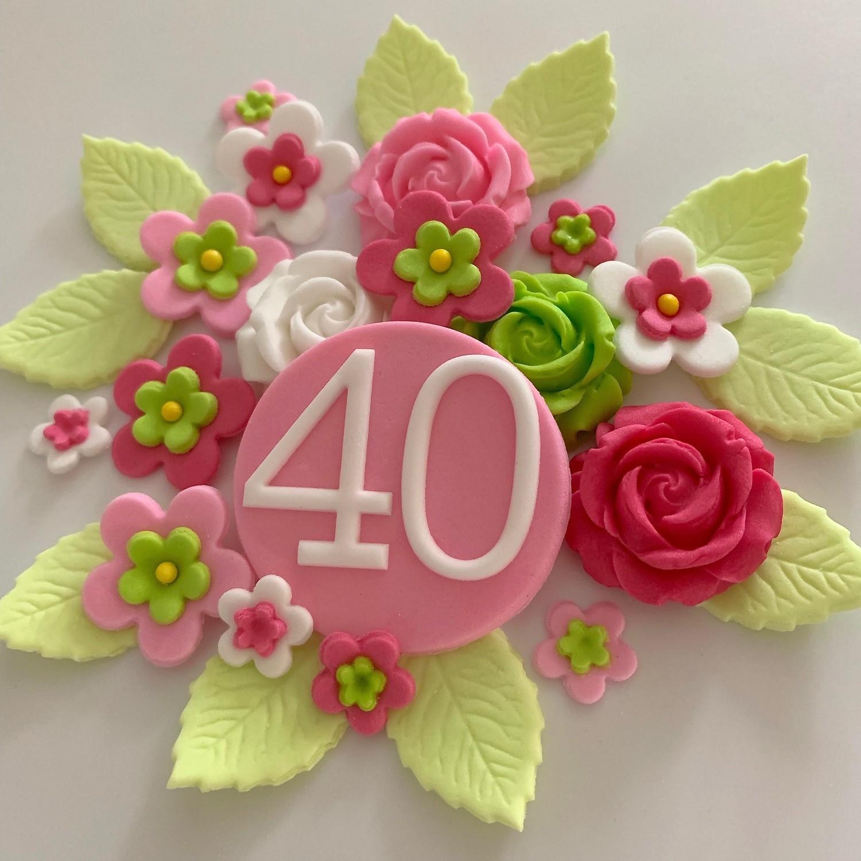 Sweet Pink Birthday Flowers