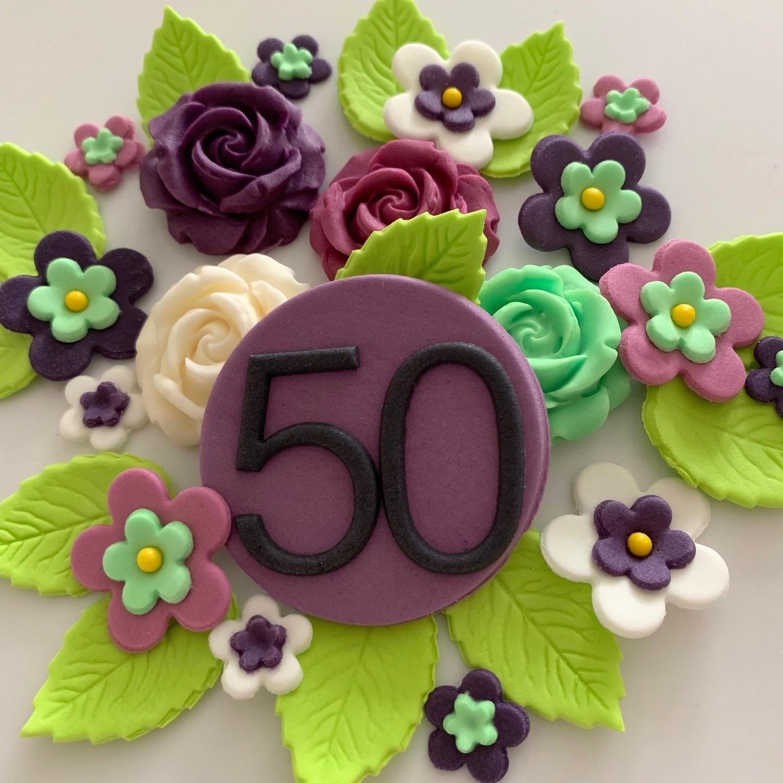Sweet Violet Birthday Flowers