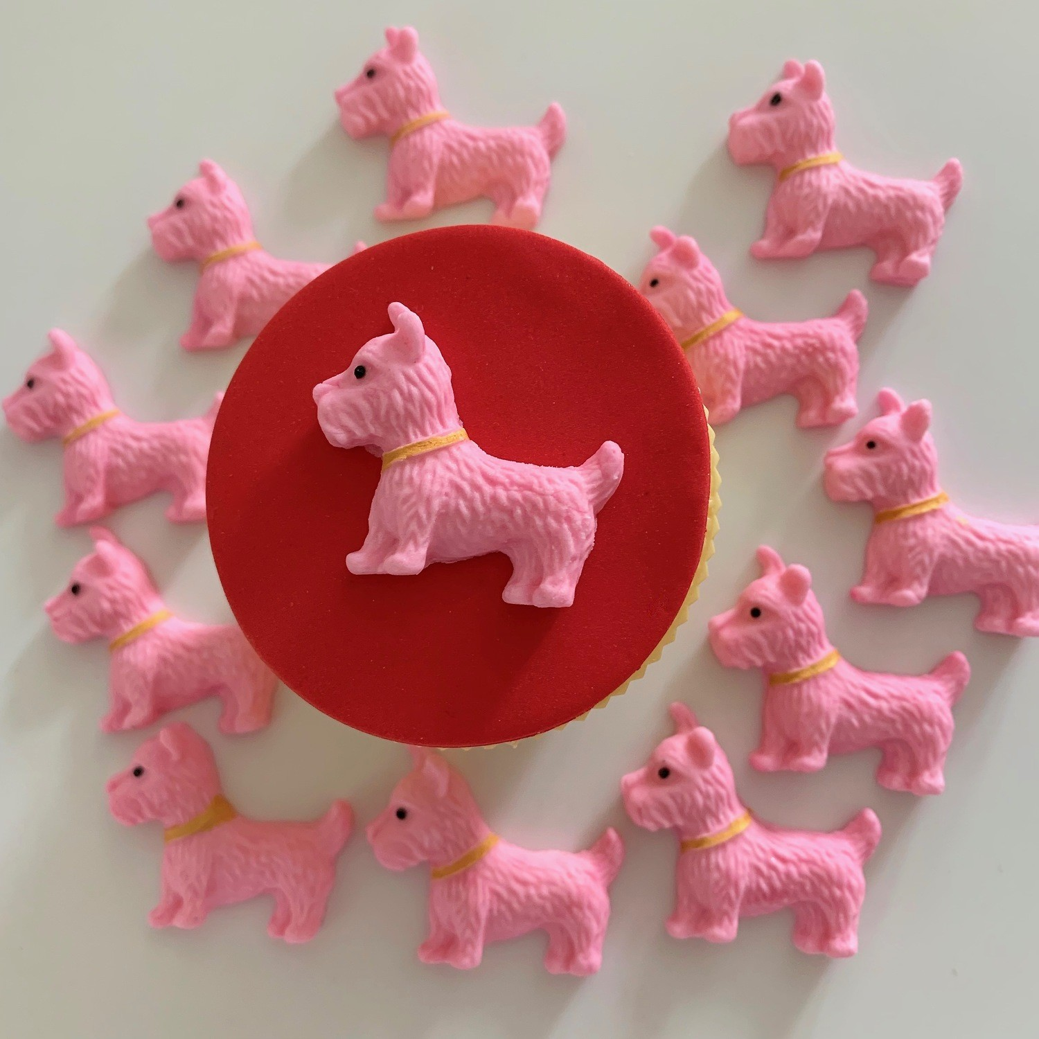 Pink Pouch Westie Dogs