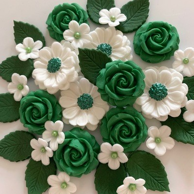 Emerald Green Rose Bouquet