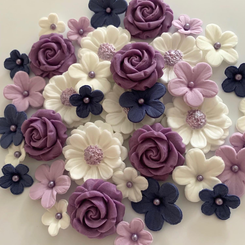 Violet Wedding Flowers