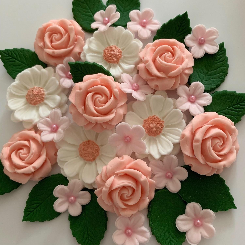 Peach Blush Rose Bouquet