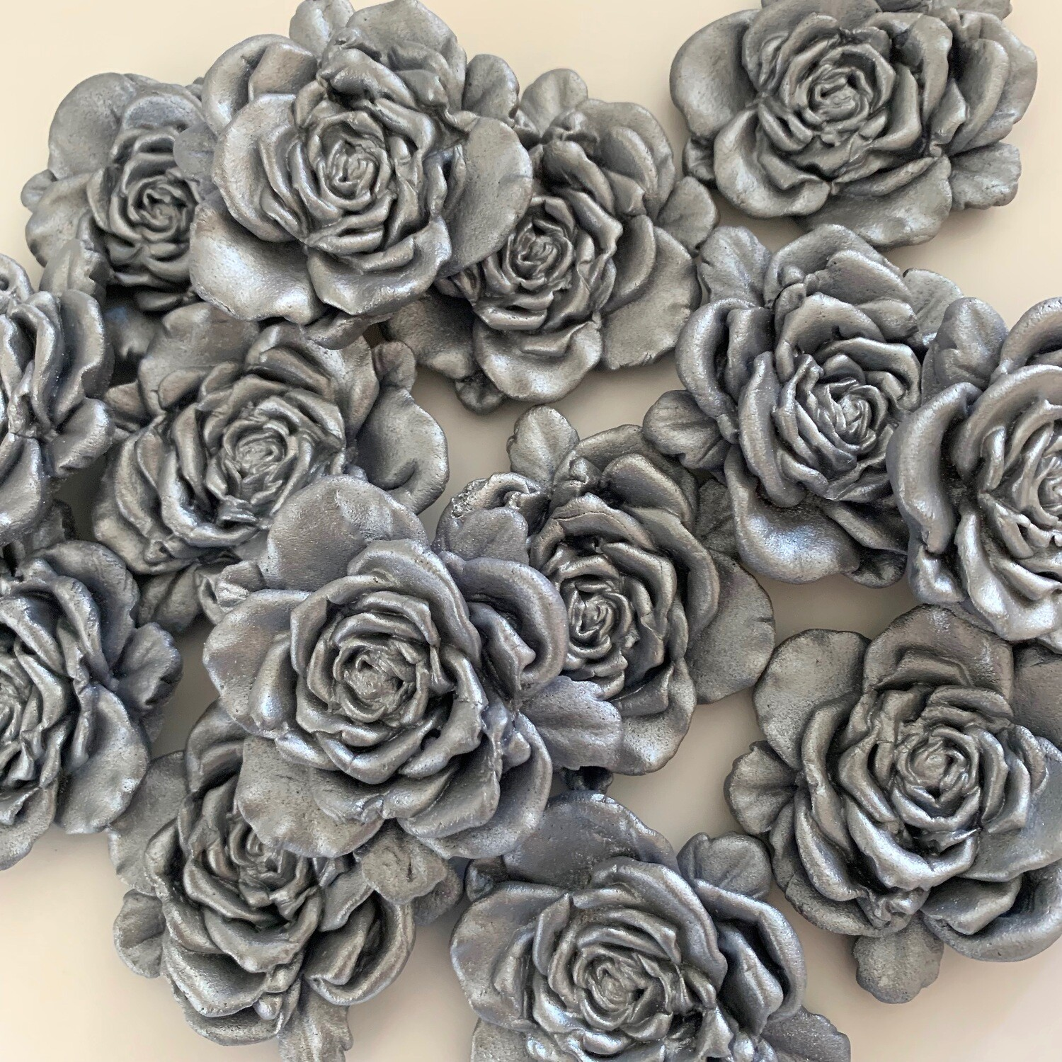 Large Silver Roses
