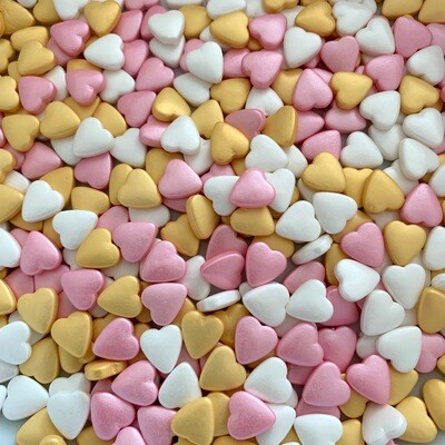 Pink Gold Candy Hearts
