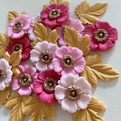 Pink Anemone Sugar Flowers