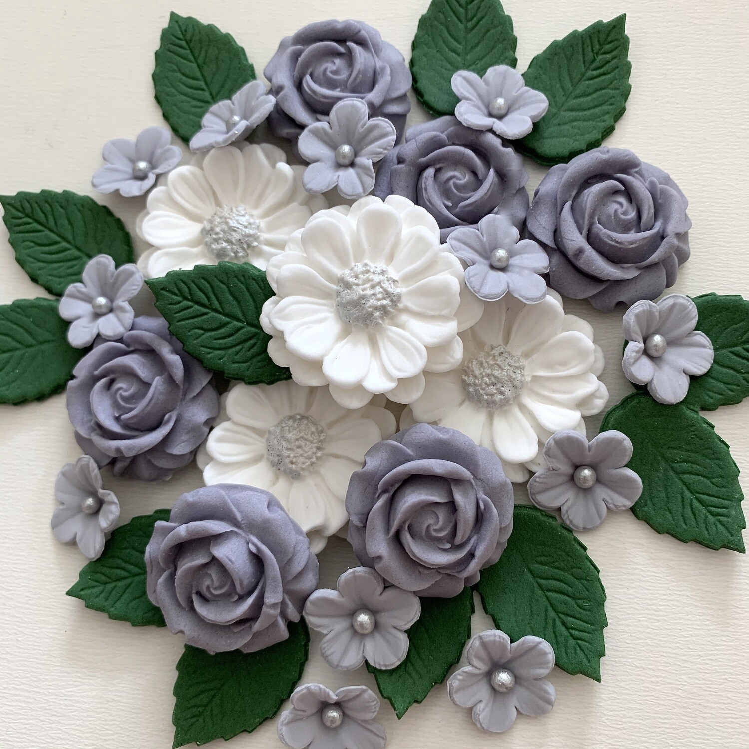 Grey Rose Bouquet