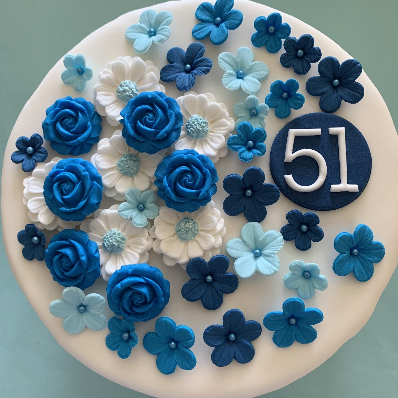 Wedding Blue Flowers