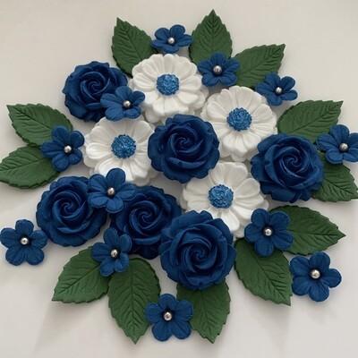 Royal Blue Rose Bouquet