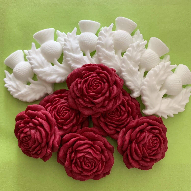 White Thistles Red Roses