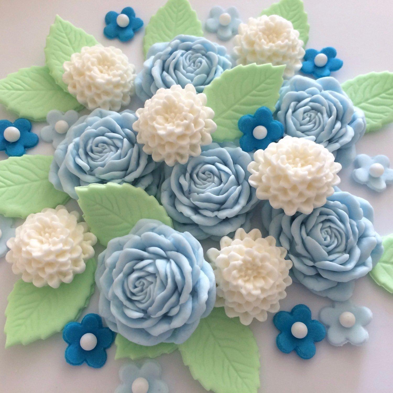 Blue Cream Flower Bouquet