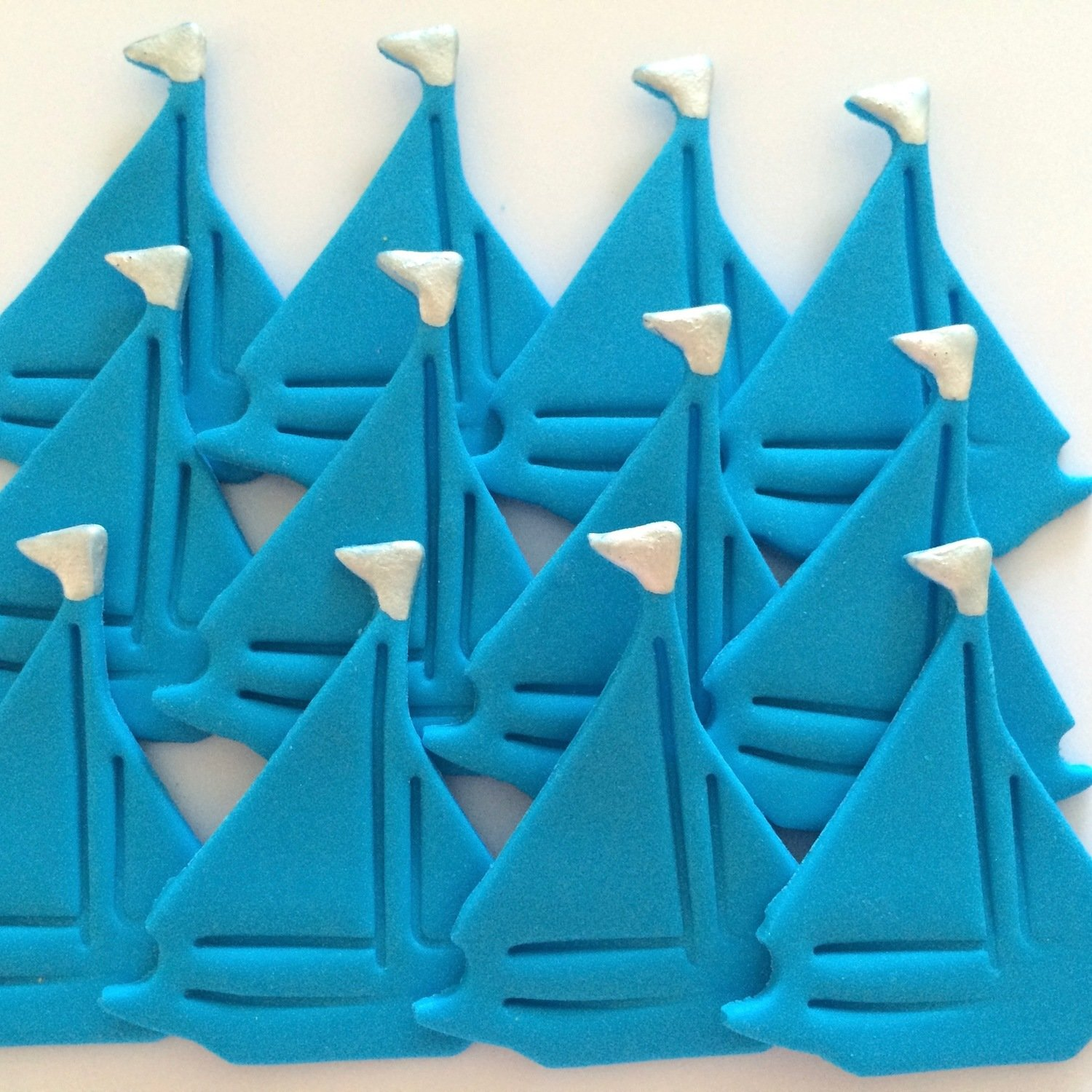 Blue Sailing Boats