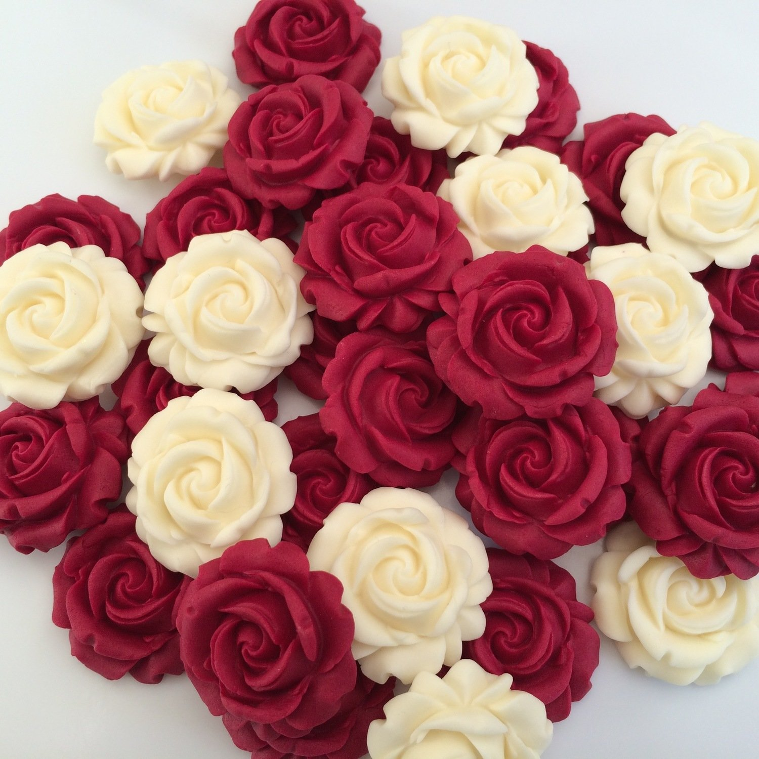 Ruby Red & Cream Roses
