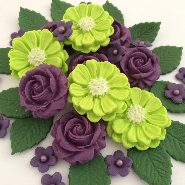 Purple Green Rose Bouquet