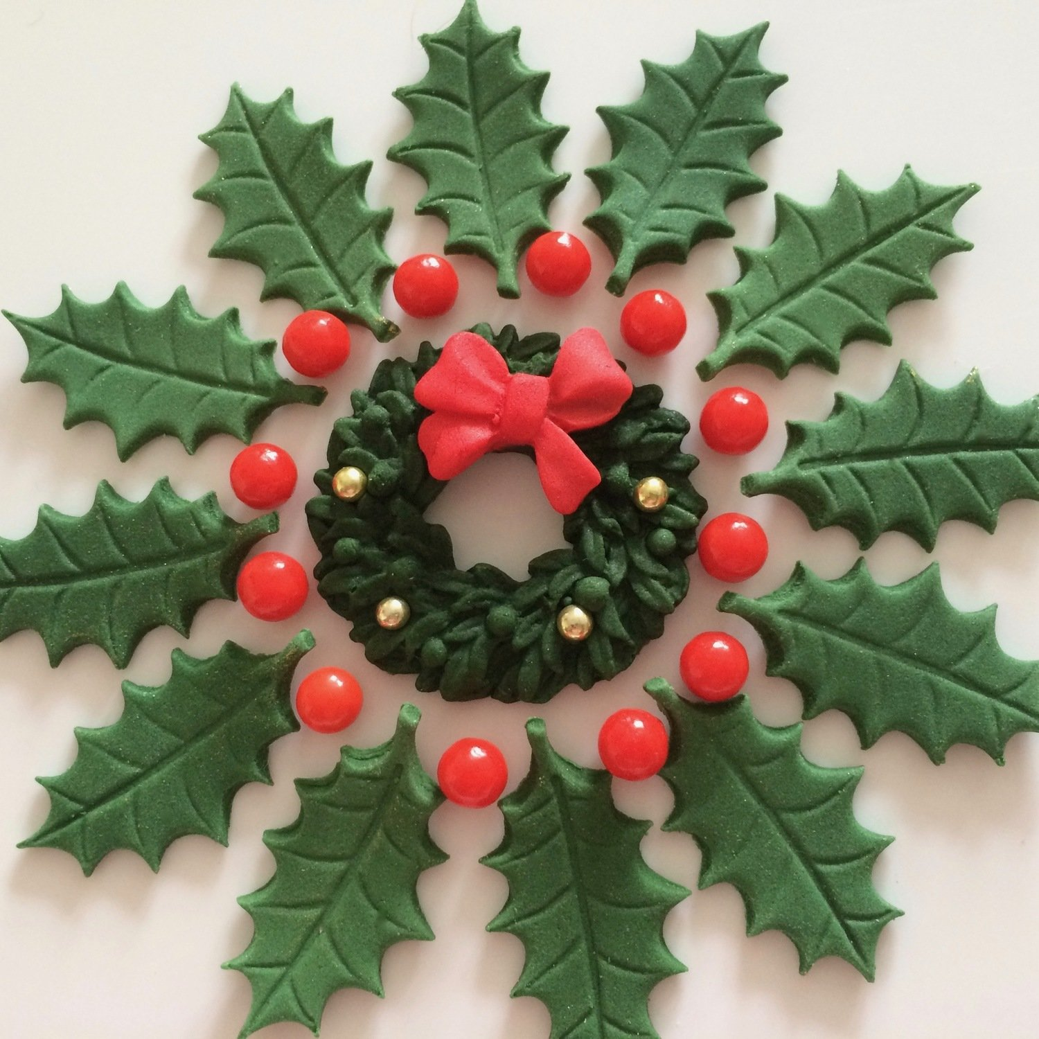 Green Holly Wreath
