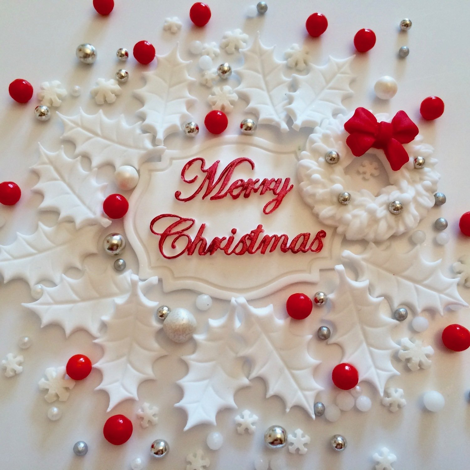 Merry Christmas Cake Decorations