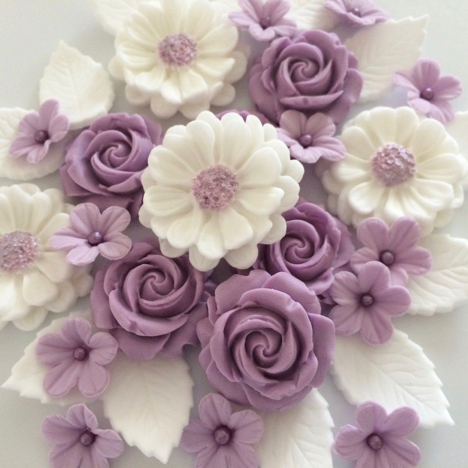 Lilac White Rose Bouquet