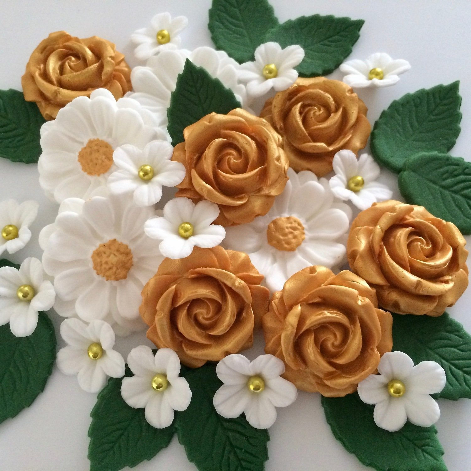 Golden Wedding Rose Bouquet