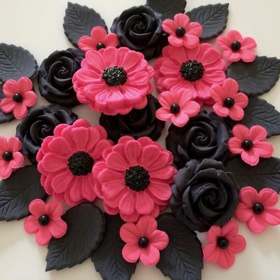 Pink Black Rose Bouquet