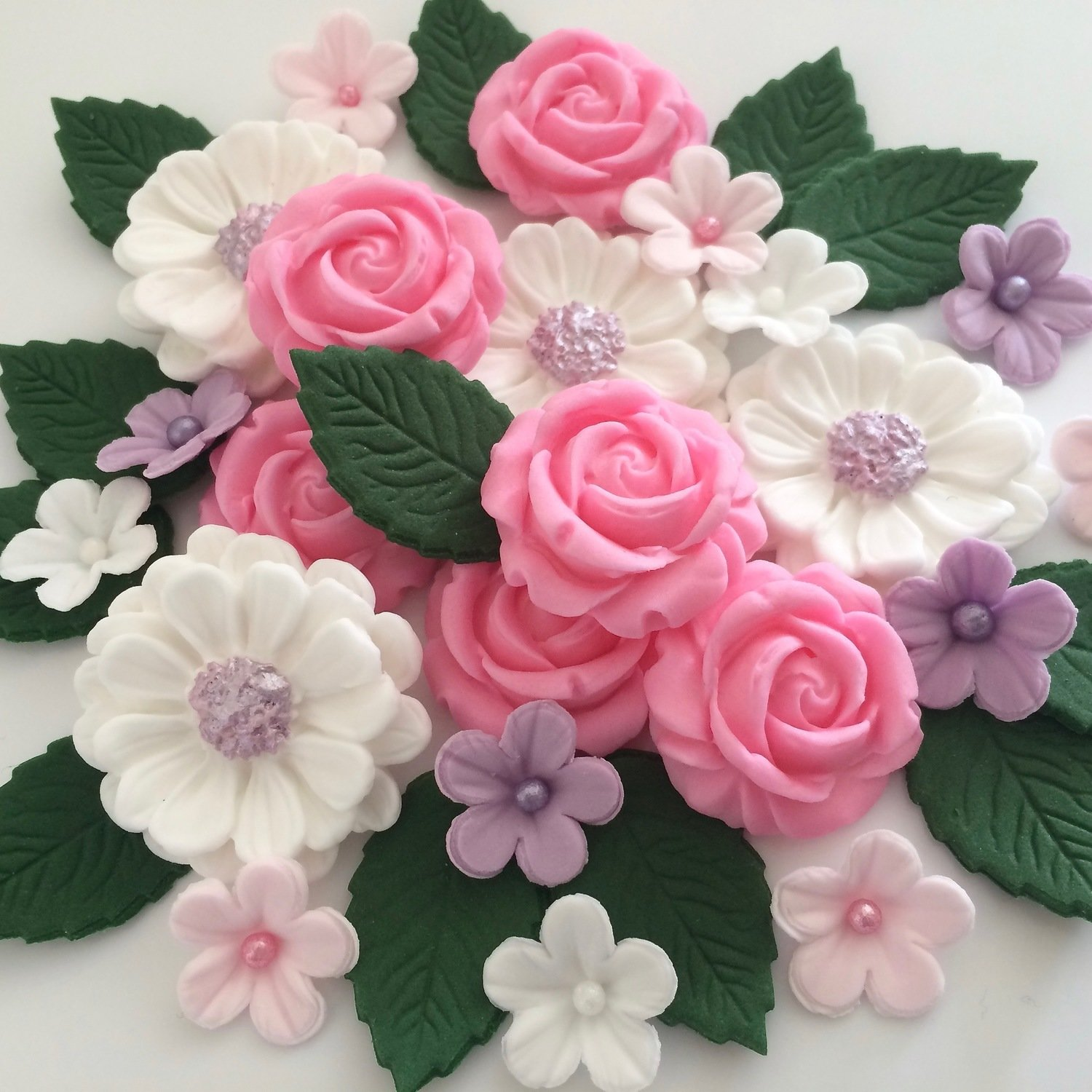Lilac Pink White Rose Bouquet