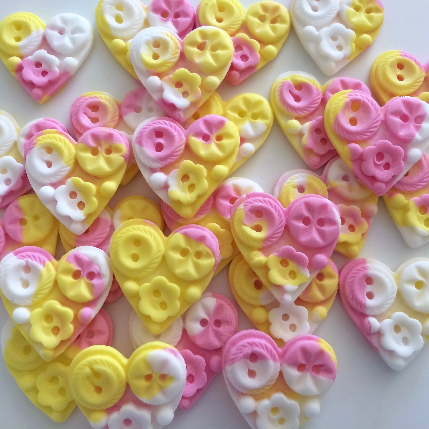 Buttons Hearts