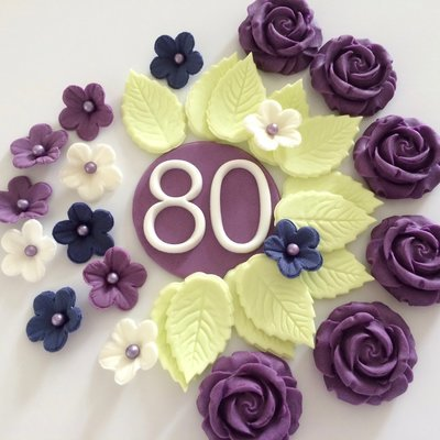 80th Birthday Cake Decorations