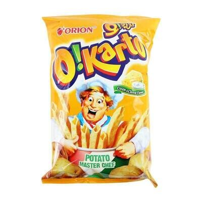 Orion O!Karto Cream & Cheese Flavour Chips (115g)
