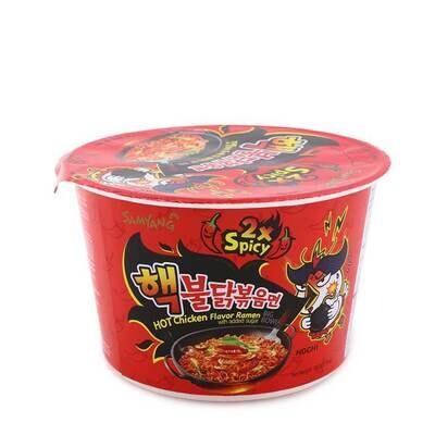 Samyang Buldak 2x Spicy Hot Chicken Flavour Ramen Bowl (105g)