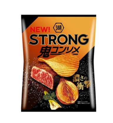 Koikeya Strong Potato Chips Demon Consomme (56G)